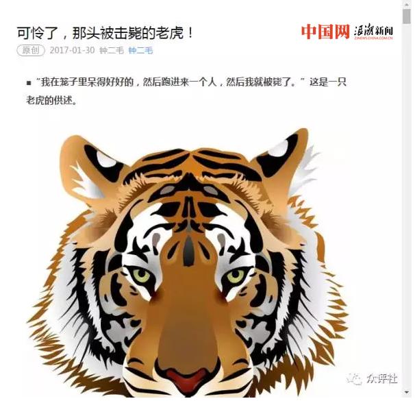 微信头像手绘老虎