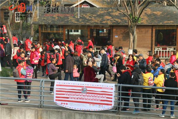 中外友人共走京杭大运河为2018开运祈福