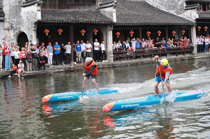 2019年南浔古镇国际桨板公开赛顺利举行